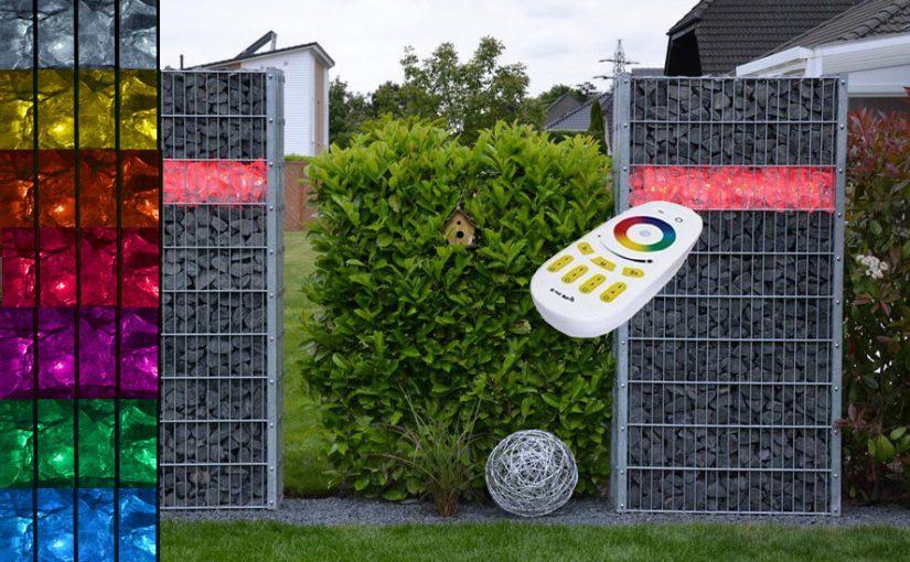 Außenbeleuchtung für Gabionen und den Garten
