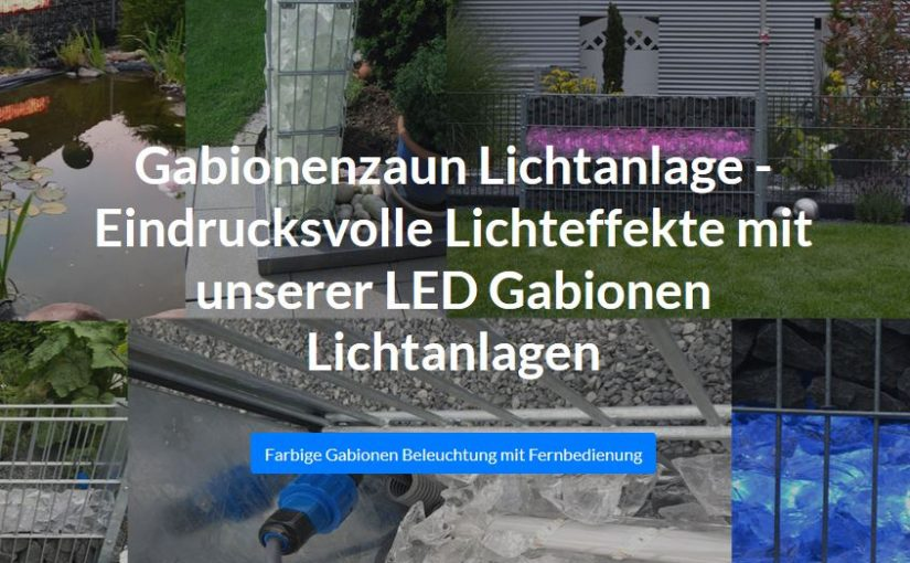 Neue Website – Montageanleitung für Gabionenzaun Beleuchtung
