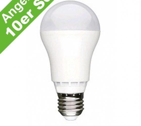 Rabattaktion LED Lampe E27 ab 99,5 ct. pro Stück im Vorteils 10er Pack