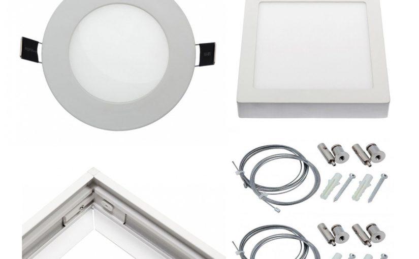 LED Deckenpaneele für den Decken-Einbau oder Aufbau – rund und eckig