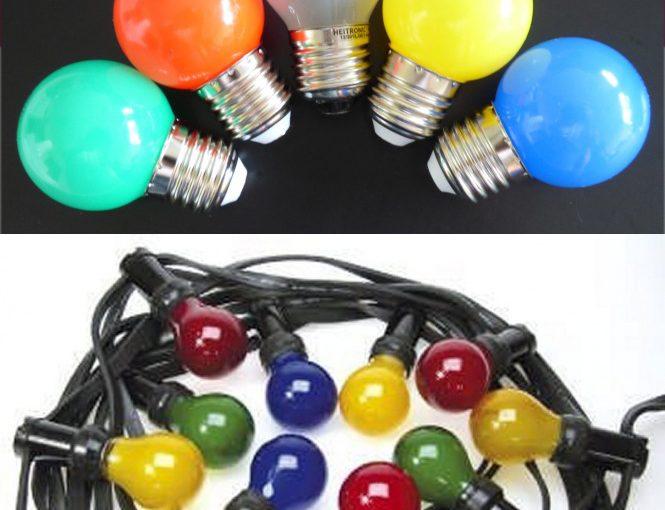 Farbige LED Lampen Tropfen für Lichterketten im Außenbereich