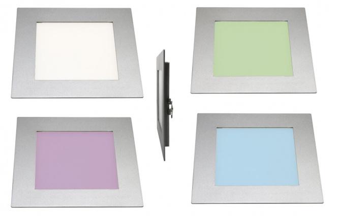 RGB farbiges LED Decken Panel Einbau eckig