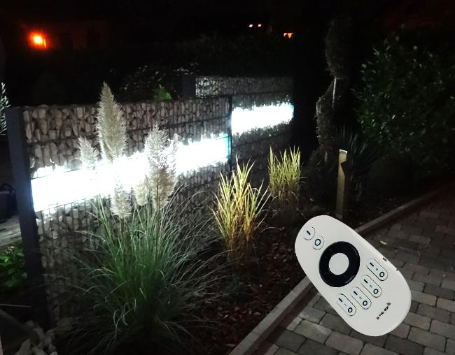 CCT Gabionenleuchten – warmweißes und kaltweißes Licht per Fernbedienung steuerbar