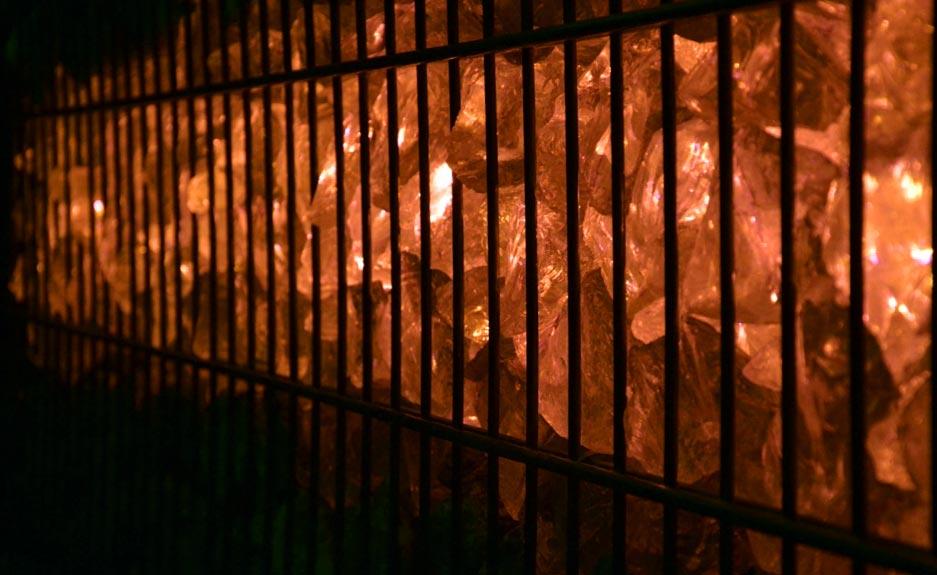 Licht für Gabionen