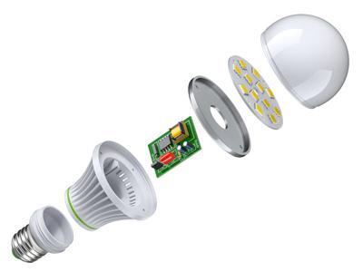 Aufbau LED Lampe