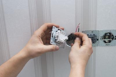 Elektroinstallation Steckdosen und Schalter