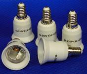 Adapter von E14 auf Sockel E27 5er Pack