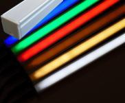 Alu Profil Leuchte 1m 450 Lumen 12 Watt Netzteil kaltweiß