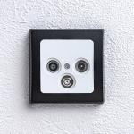 Delphi Antennendose TV-SAT-Radio Unterputz Rahmen schwarz