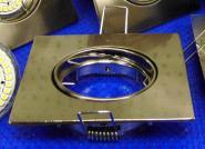 Einbaustrahler Spot Quadrat 90x90 mm nickel-matt