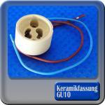 Fassung Keramik Sockel GU10 mit Kabel 150 mm LED Halogen