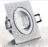 Feuchtraum Einbau Spot BiColor eckig IP44 mit Schutzglas inkl. GU10 Fassung