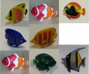 Fische 8er SET für Wassersäulen und DEKO