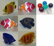 Fische 12er SET für Wassersäulen und DEKO