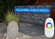 Gabionen Leuchte LED 360° 1,10 m 2er SET RGB