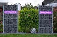 Gabionen Beleuchtung 360° Abstrahlwinkel Master-Slave 2x 1 m RGB