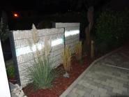 Gabionen Leuchten Set LED 360 Grad 2 x 0,9 m kaltweiß