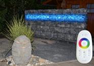 Gabionen Leuchte LED 360° 3 x 0,90 m RGB im SET