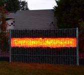Gabionen Leuchte LED 360° 1,65 m RGB mit Fernbedienung
