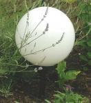 Garten Leuchtball Ø 30 cm E27 weiß inkl. Erdspiess