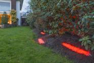 LED Kiesbett Leuchte 180° Abstrahlwinkel 0,50 m rot inkl. Netzteil