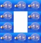 Globe Lampe Ø95mm E27 60 Watt klar 10er Pack