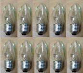 Glühlampe Kerze 230 Volt E27 25 W klar 10er Pack