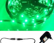 LED 1m Stripe Set 60x 3528 SMD grün IP20 + Netzteil