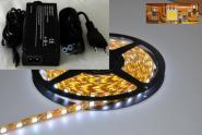 LED 1m Stripe Set 60x 5050 SMD kaltweiß IP20 mit Netzteil weiß