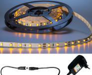LED 1m Stripe Set 60x 5050 SMD LED warmweiß IP20 mit Netzteil weiß