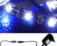 LED 1m Stripe Set 60x3528 SMD blau IP20 + Netzteil