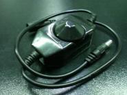 LED Dimmer 12 V 2 Amp. Kupplung + Stecker schwarz