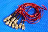 LED Einbau Metall Ø 9,5 mm 10 Stück kaltweiß
