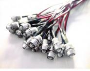 LED Einbauspot Metall Ø 9,5 mm Lichtpunkt rot