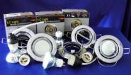LED Einbauspot 300 Lumen Chrom Kabel warmweiß 5er SET