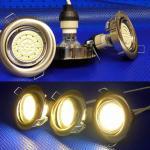LED Einbauspot, 190 Lumen chrom warmweiß 3er Set