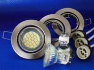 LED Einbauspot Eisen gebürstet warmweiß 3er Set