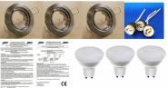 LED Einbauspot 6 Watt 430 Lumen Eisen warmweiß 3er SET