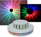 LED Lichteffekt UFO 48 bunte LEDs in Lichtbewegung
