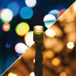 LED Lichterkette 180 warmweiß - Multicolor LED IP44