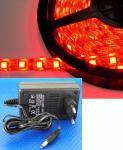 LED 1m Stripe Set 60x 5050 SMD LEDs rot IP63 mit Netzteil