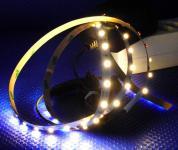 LED 1m Stripe Set 60x 3528 SMD LED warmweiß IP20 + Netzteil weiß