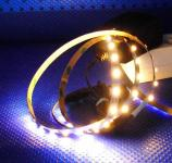 LED 2,5 m SET 150x3528 SMD weiß IP20 + Netzteil warmweiß