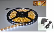 LED 1m Stripe Set 60x 5050 SMD warmweiß IP63 mit Netzteil weiß