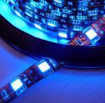 LED 1m Stripe Set 60x 5050 SMD blau IP20 mit Netzteil