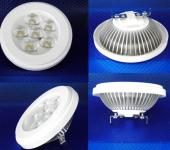 LED Strahler, kaltweiß 10 Watt AR111 Ersatz für 75 Watt