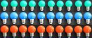 LED Lampe Tropfen bunt 30er SET rot/grün/blau