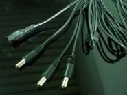 Netzteil Verteilerkabel 1 x Kupplung - 3 x Stecker