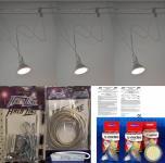 Seilsystem 4 Watt 300 Lumen White-Line 3er Pack warmweiß 2x 5m Seil