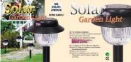 SOLAR 5er SET Leuchte Kunststoff schwarz H: 390 mm